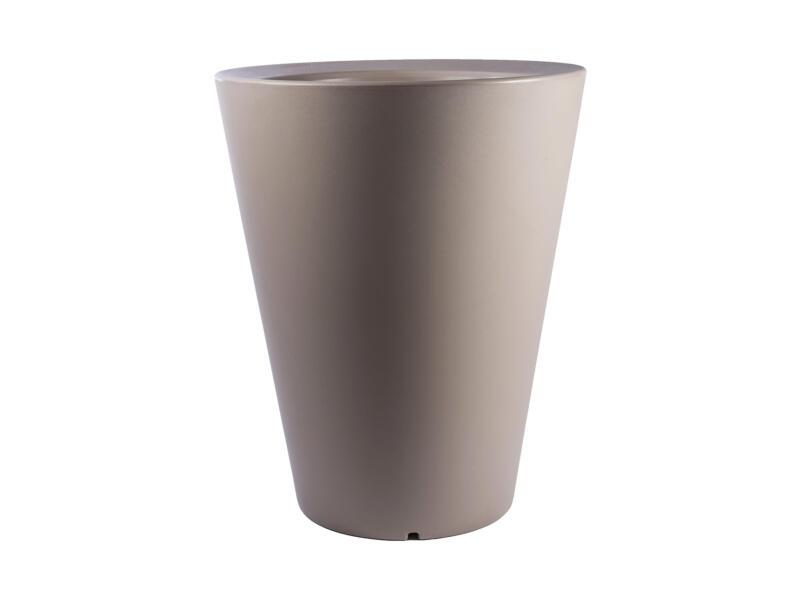 Olla 100 pot à fleurs conique 80cm cappuccino
