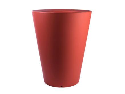 Olla 100 pot à fleurs conique 80cm orange
