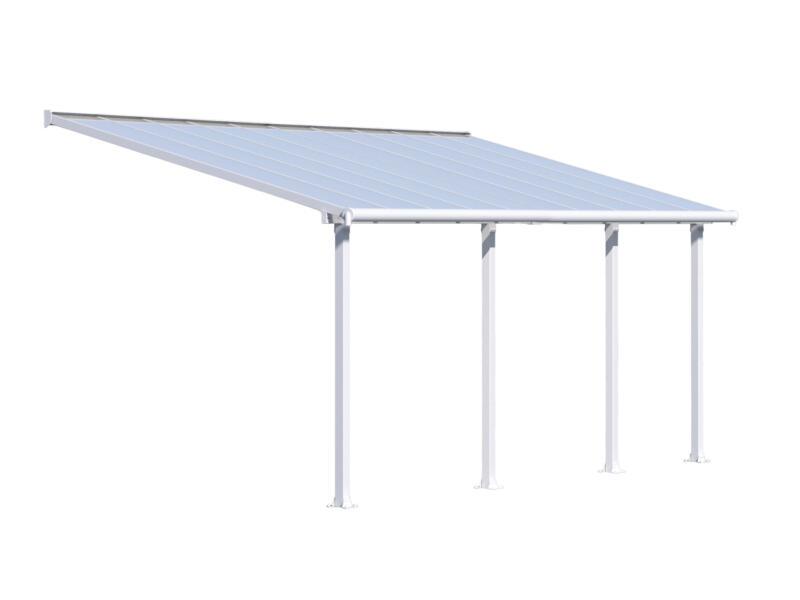 Palram Olympia pergola 6,19x3 m transparent/blanc