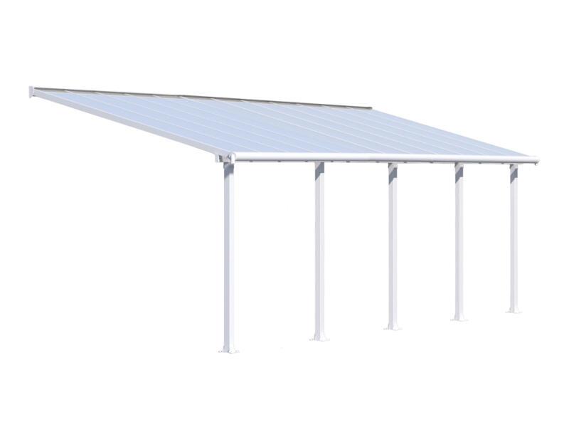 Palram Olympia pergola 7,39x3 m transparent/blanc