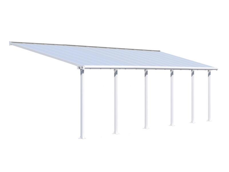 Palram Olympia pergola 9,24x3 m transparent/blanc