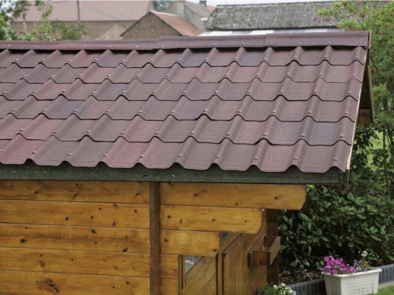 Onduline Onduvilla panneau de toit 106x40 cm 3mm 2,17m² rouge