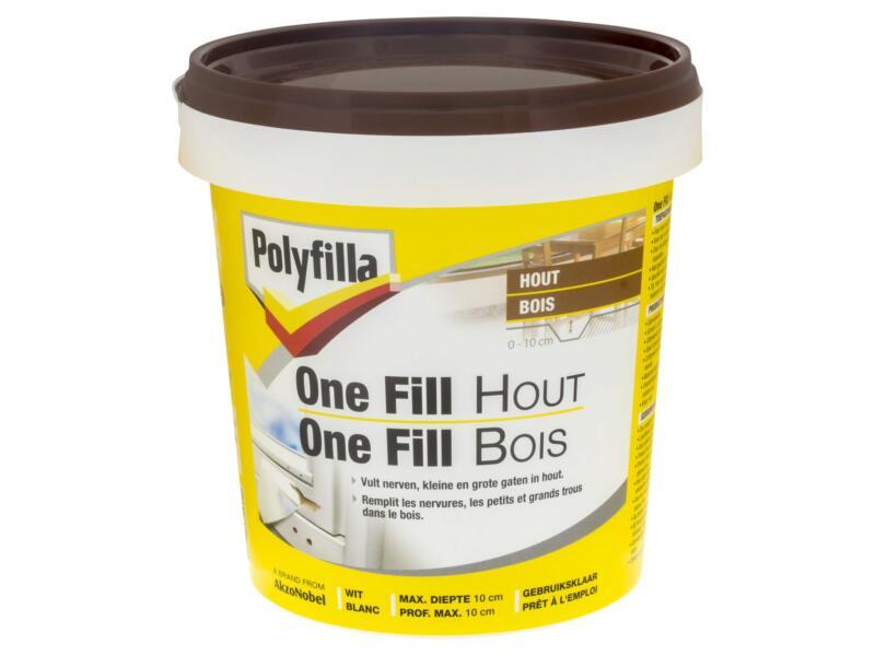 Polyfilla One-fill enduit de rebouchage bois 500g blanc