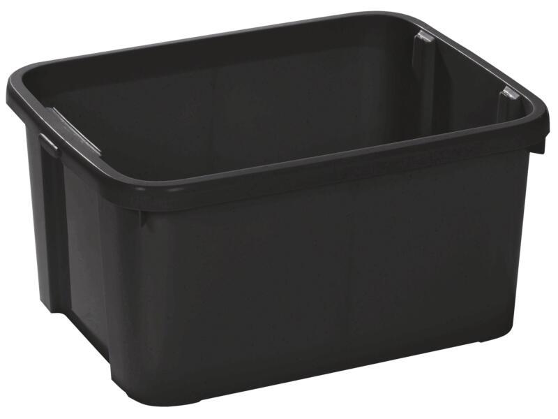 Opbergbox 25l zwart