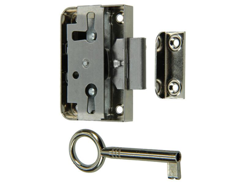 Oplegmeubelslot 20mm met bevestigingstoebehoren