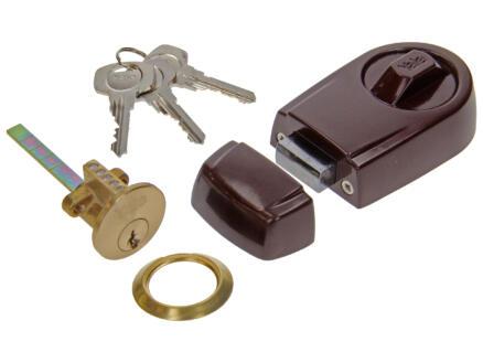 Yale Oplegslot Rim Lock met bevestigingstoebehoren bruin