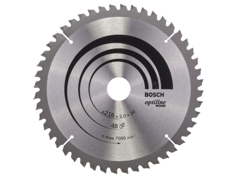 Bosch Optiline Wood cirkelzaagblad 216mm 48T hout
