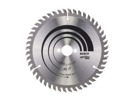 Bosch Professional Optiline cirkelzaagblad 160mm 48T hout