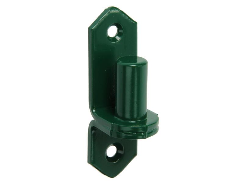 Opzethaak 18mm geplastifieerd groen