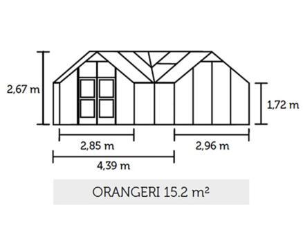 Juliana Orangery 152 serre veiligheidsglas grijs