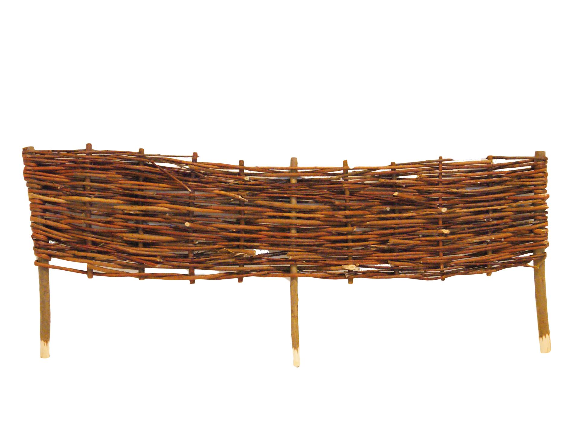 Orba bordure en bois de saule tressé 90x22,5 cm