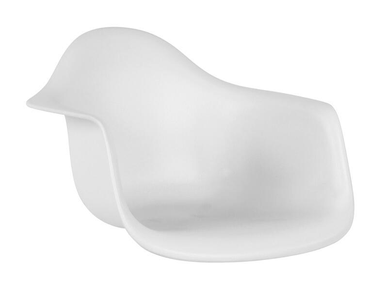 Practo Home Orsa siège de chaise coque 42x62x60 cm blanc