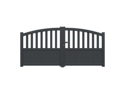 Orta portail battant 300x120/140 cm anthracite