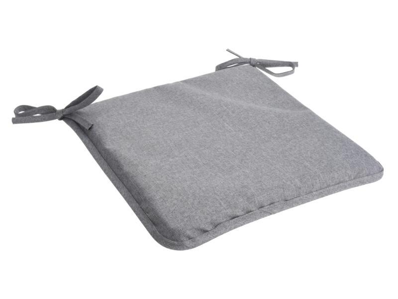 Outdoors coussin de chaise 40x40x2,5 cm gris clair
