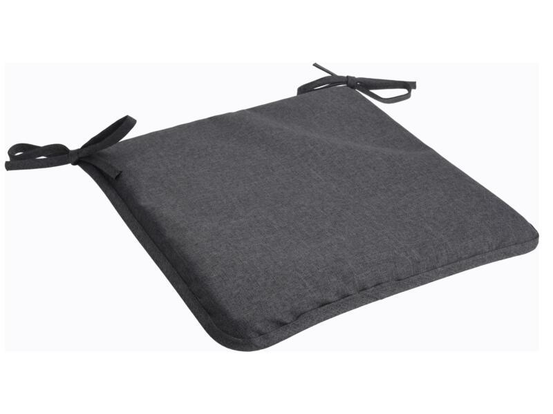 Outdoors coussin de chaise 40x40x2,5 cm gris