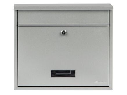 Practo Garden Oxford boîte aux lettres acier laqué gris argent