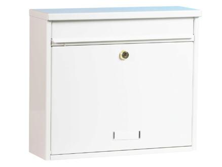 Practo Garden Oxford brievenbus gelakt staal wit