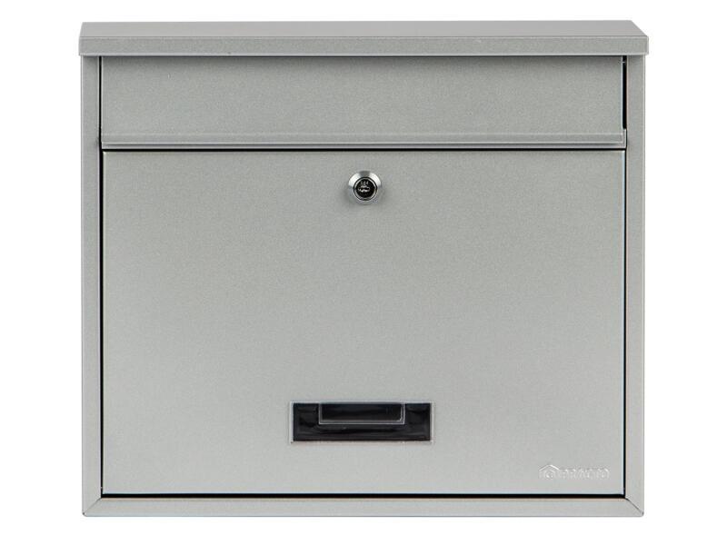 Practo Garden Oxford brievenbus gelakt staal zilvergrijs