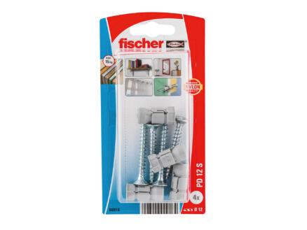 Fischer PD12 hollewandpluggen met schroef 4 stuks