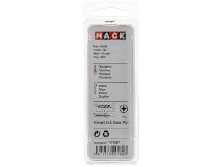Mack PE-plug met schroef 8mm 5x50 mm 10 stuks