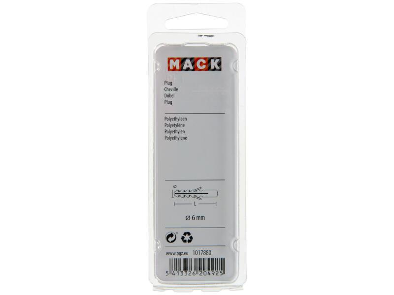 Mack PE-pluggen 6mm 25 stuks