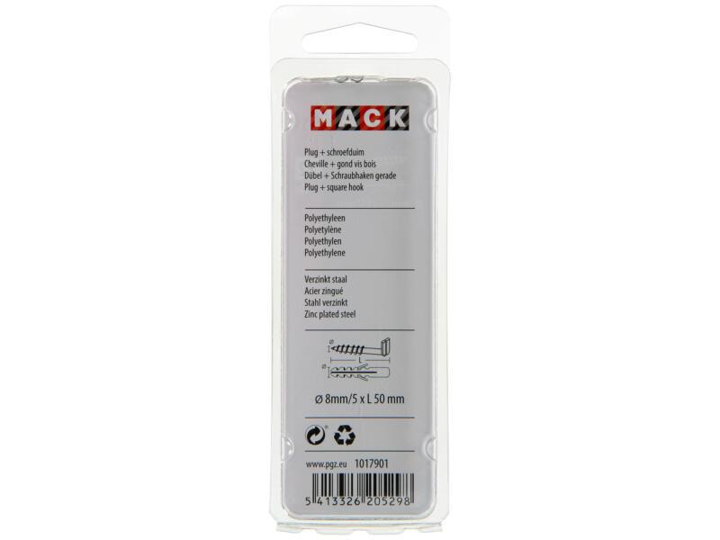 Mack PE-pluggen met schroefduim 8mm 5x50 mm 4 stuks