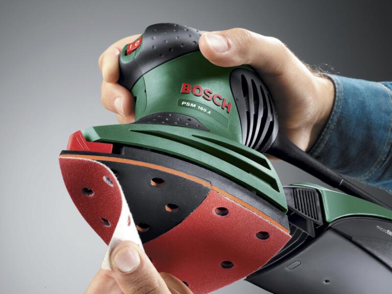 Bosch PSM 160 A ponceuse multifonction 160W + 3 feuilles de ponçage