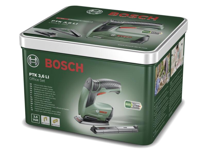 Bosch PTK 3,6 Li Office agrafeuse-cloueuse set complet 3,6V Li-Ion