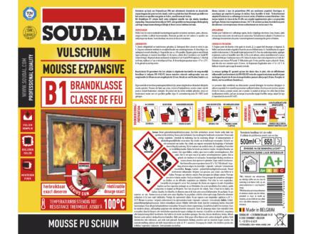Soudal PU-schuim brandklasse B1 500ml