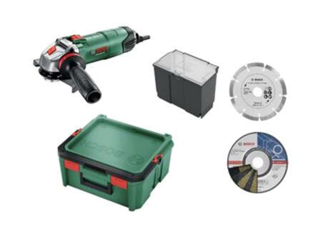 Bosch PWS 850-125 haakse slijper 850W 125mm + 3 accessoires + SystemBox