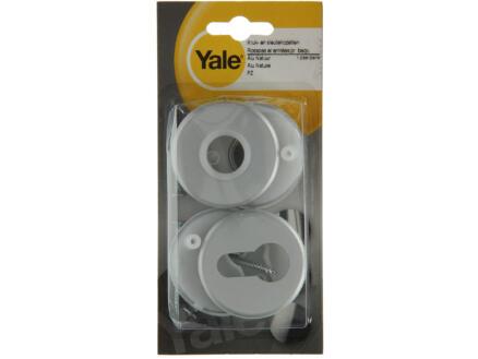 Yale PZ klink- en sleutelrozetset 50mm aluminium