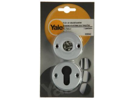 Yale PZ klink- en sleutelrozetset cilinderingang 52mm aluminium