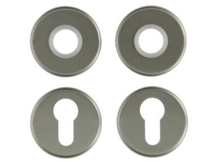 Yale PZ poignée de porte avec rosace et entrée de clé 50mm set complet aluminium