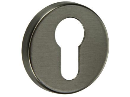 Yale PZ rosace serrure de porte  48,5mm set complet nickel mat