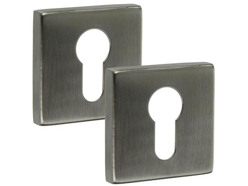Yale PZ rosace serrure de porte 52mm set complet carré inox