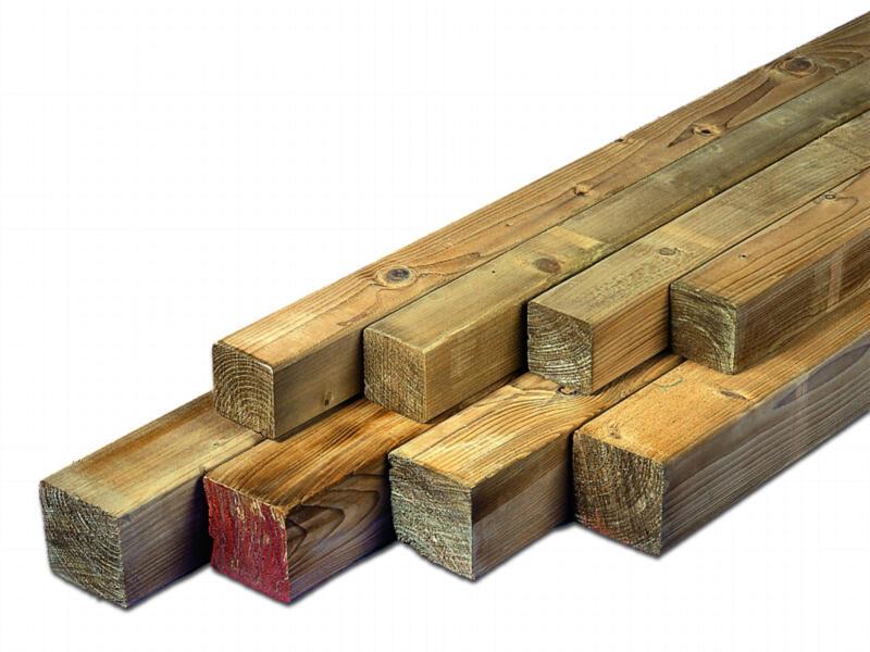 Paal 270x8,8 cm vierkant geschaafd