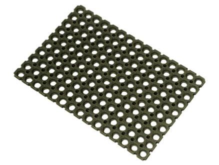 Paillasson caillebotis caoutchouc 80x120cm noir