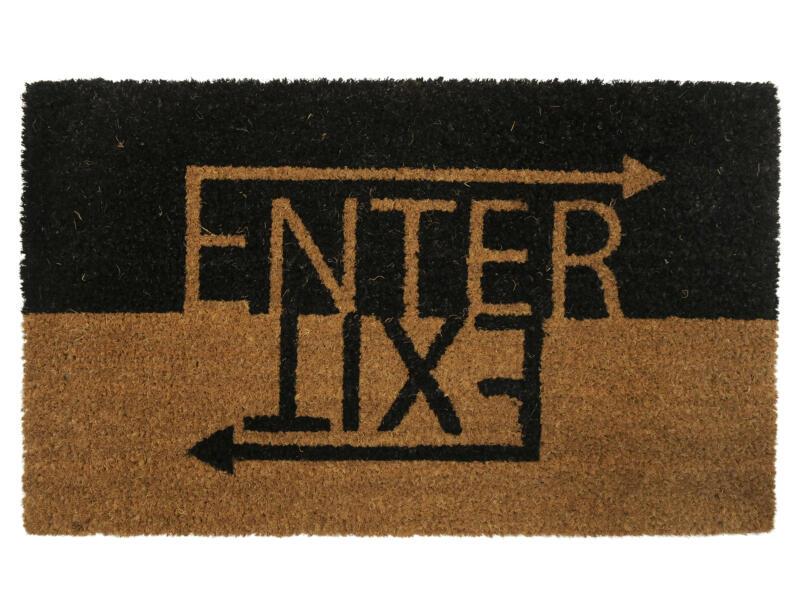 Paillasson coco enter/exit 45x75 cm