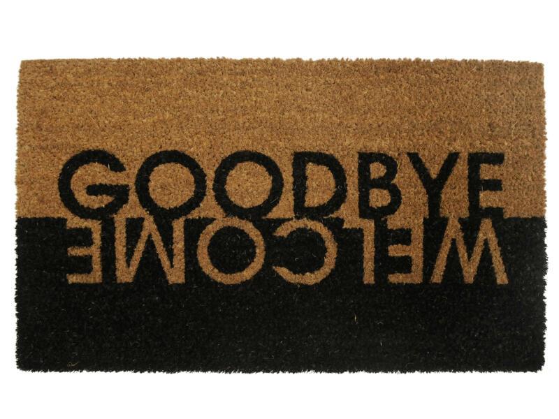 Paillasson coco welcome/goodbye 45x75 cm