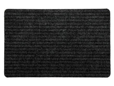 Paillasson compact 50x80 cm gris