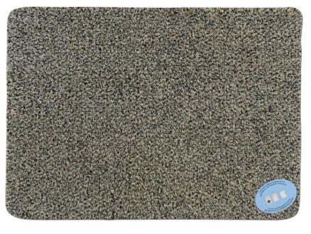 Paillasson en coton 45x65 cm gris
