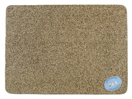 Paillasson en coton 50x75 cm beige