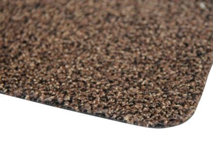 Paillasson en coton 50x75 cm brun