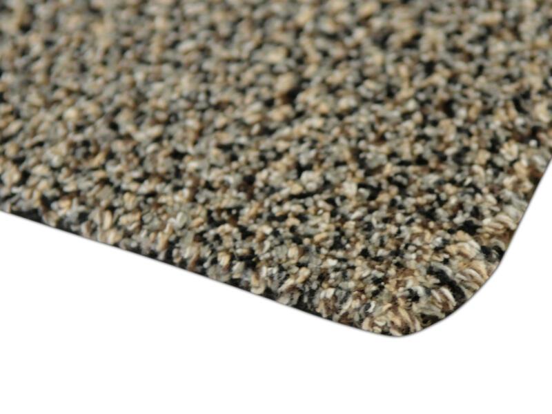 Paillasson en coton 50x75 cm gris