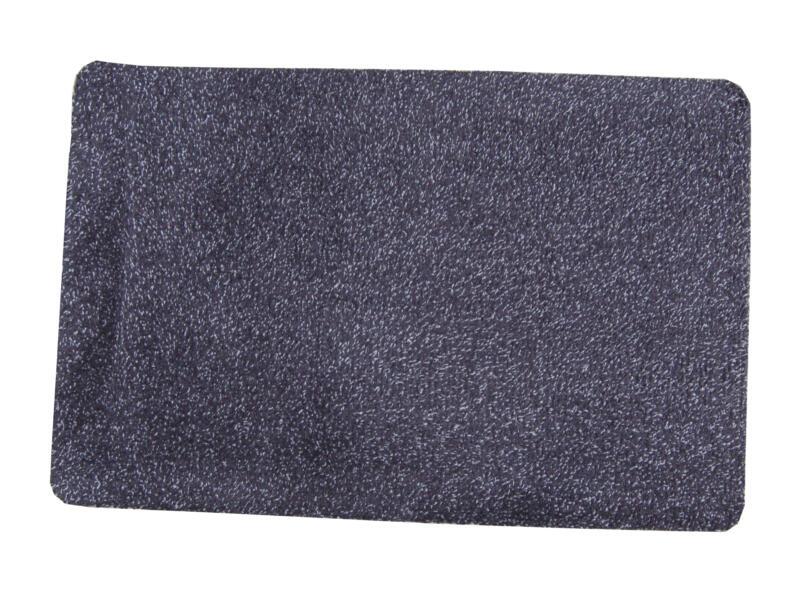 Paillasson en coton 50x80 cm basalte