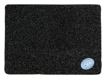 Paillasson en coton 65x100 cm anthracite