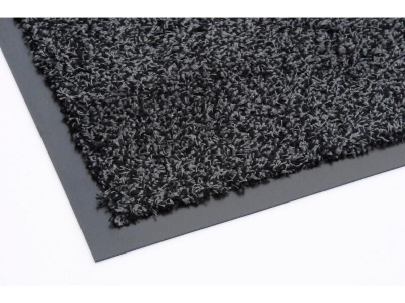 Paillasson en coton avec bord 60x90 cm anthracite