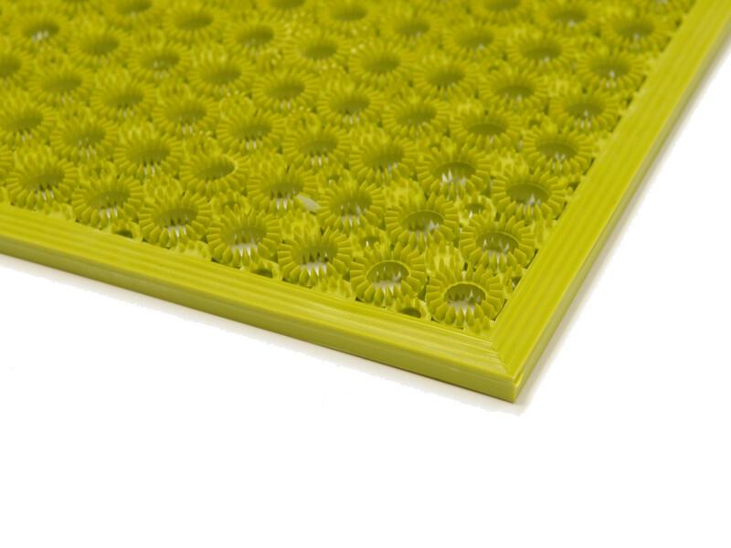 Paillasson en vinyl funky 48x62 cm citron vert