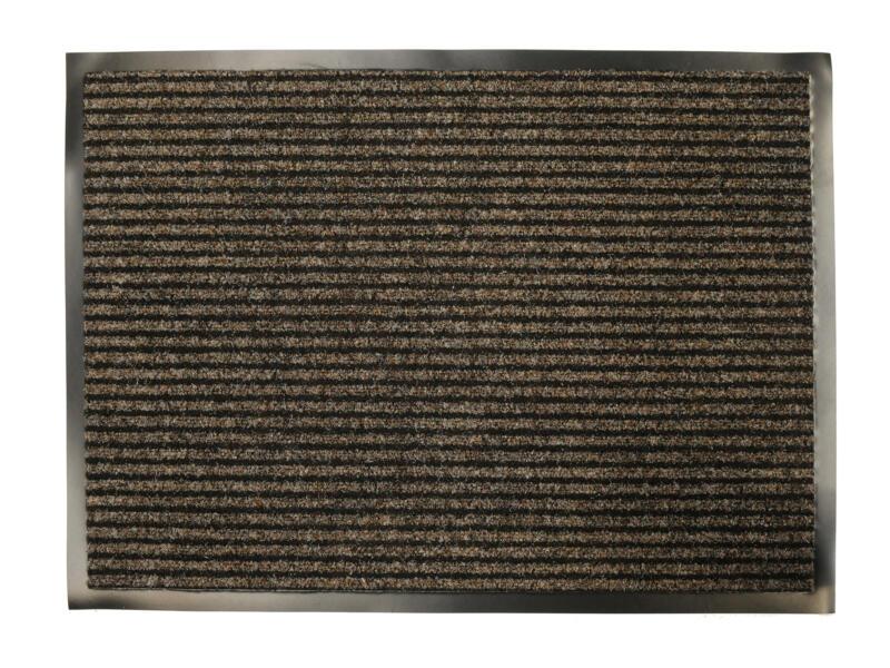 Paillasson rainures 60x80 cm beige