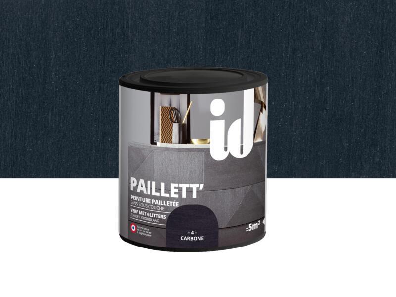 Paillett' peinture meubles bois et MDF 0,5l carbone